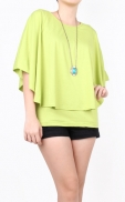 layer_cape_blouse_green