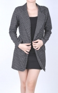 long_polkadot_blazer_black
