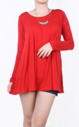 long_straight_blouse_red